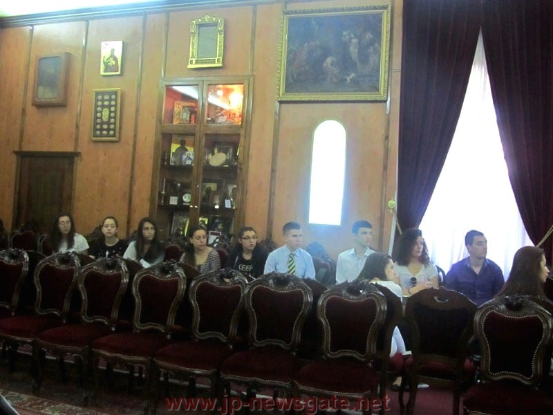 A delegation of excellent Bulgarian students at the Patriarchate