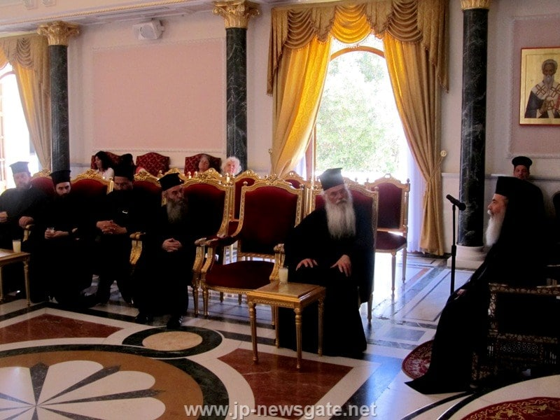 The Metropolitan of Mesogaia and Lavreotiki at the Patriarchate