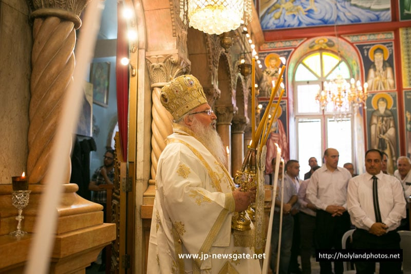 His Eminence Archbishop Theophylaktos of Jordan during the Divine Liturgy
