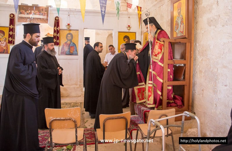 His Beatitude at the Church of the Prophet Elias, in Maaloule