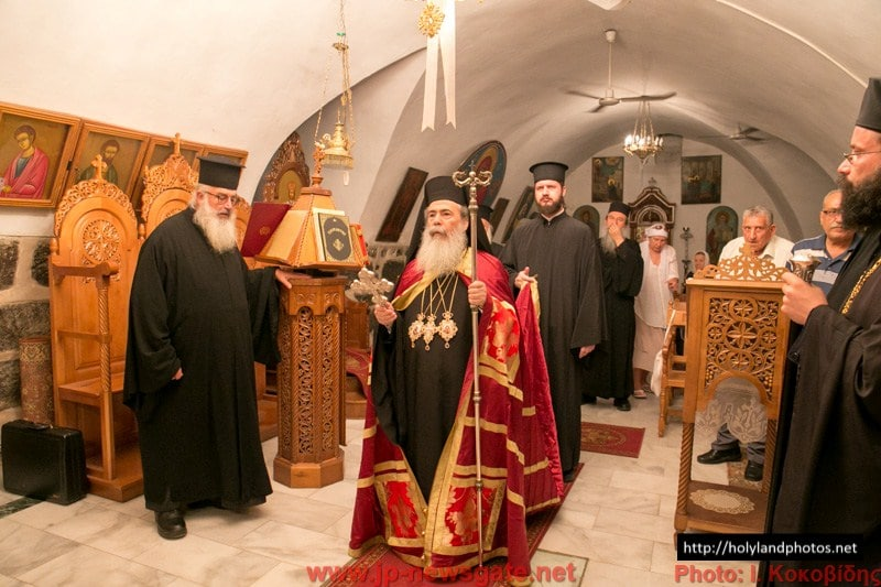 His Beatitude at the Monastery of the Holy Apostles in Tiberias