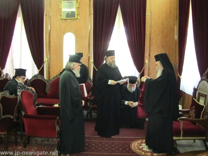 Archimandrite Timotheos of the Romanian Church visits the Patriarchate