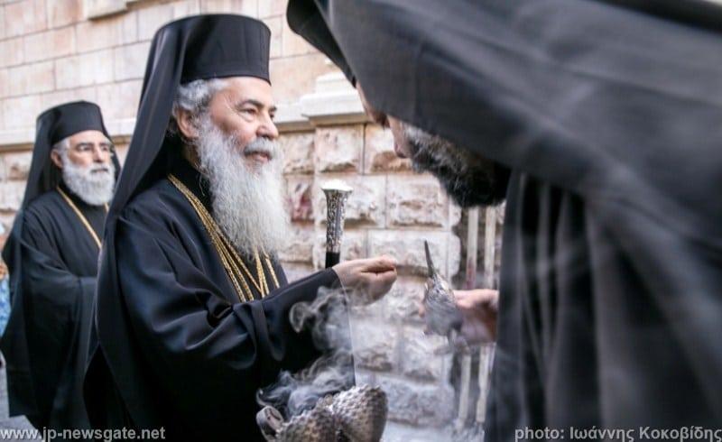 The Patriarchal Retinue arrives at the Praetorium