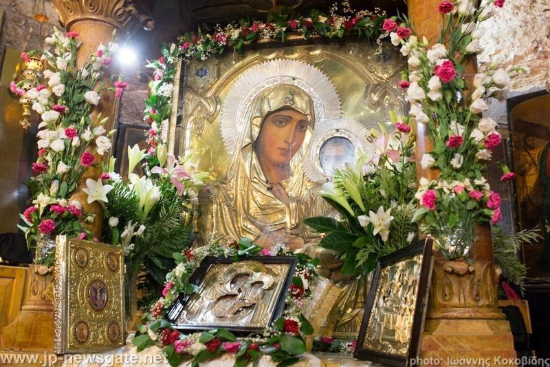 The icon of Platytera the Jerusalemite