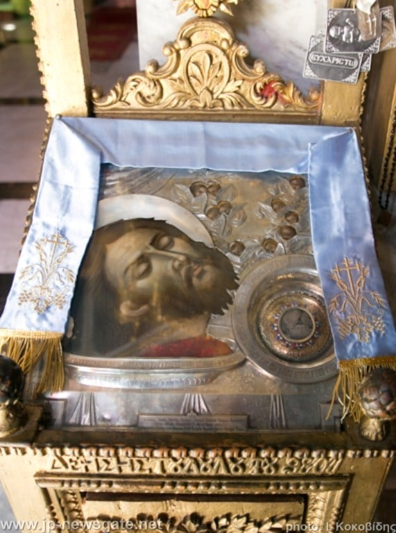The icon of the beheading of John the Baptist