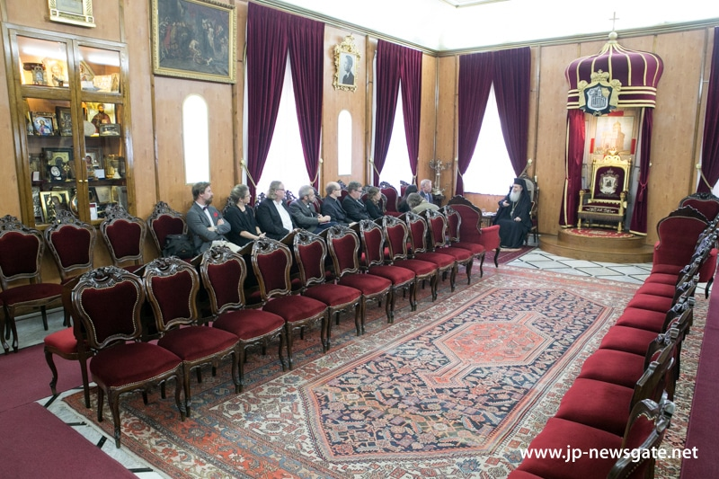 Representatives of the Van Leer Institute at the Hall of the Throne