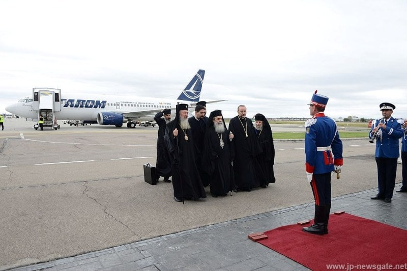 Welcoming the Patriarchal Retinue at Bucharest Airport