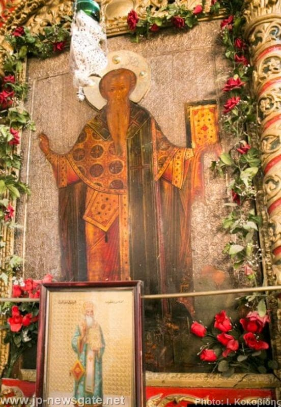 The icon of St James at the Church's iconostasis