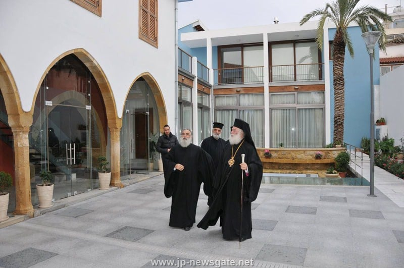 The Patriarch of Alexandria welcomed to the Exarchate of the Holy Sepulchre in Cyprus