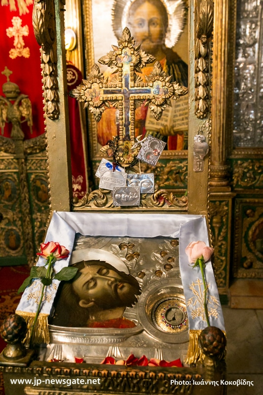 The icon and the holy relic of St John the Baptist