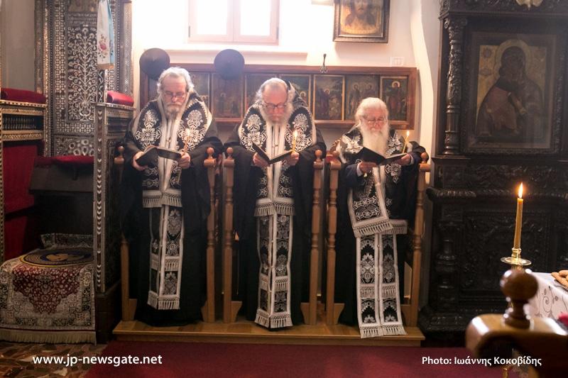 Prelates during Souls Saturday Vespers