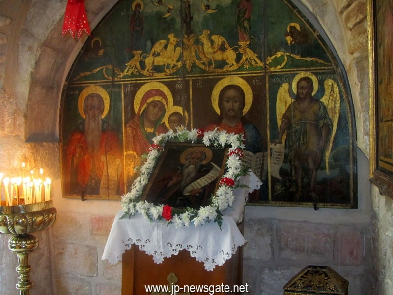 View of the interior of St Efthymios Monastery