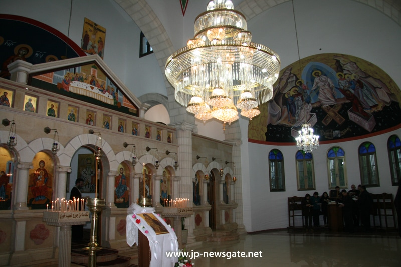 Interior view of the Church of the Annunciation of Theotokos