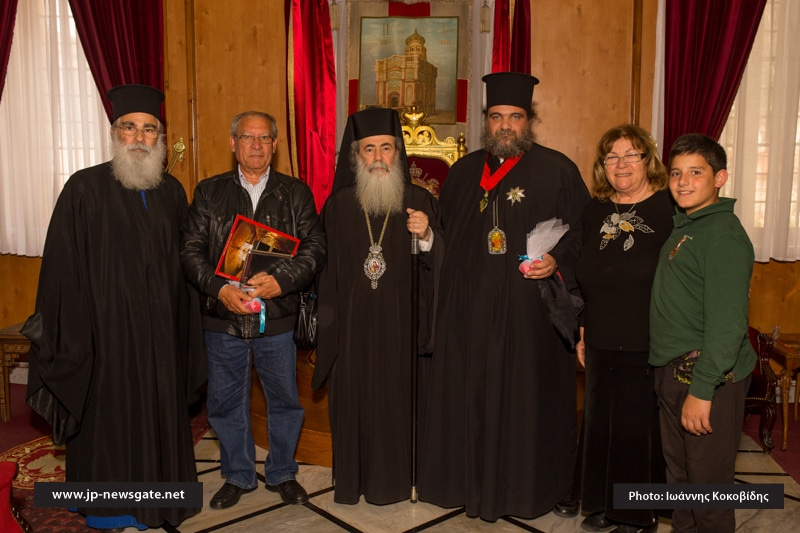 His Beatitude, the Metropolitan of Bostroi and members of the Exarchate Parish