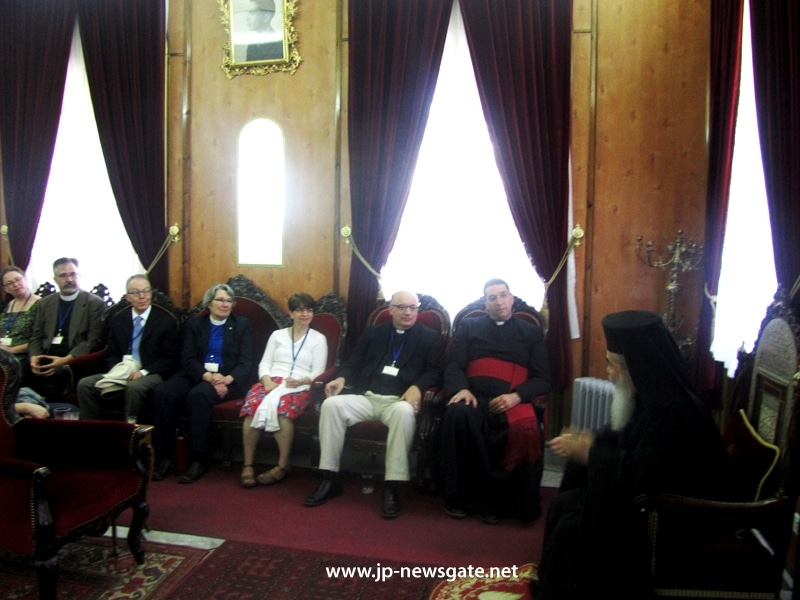 The Patriarch welcomes f. Hosam and visitors
