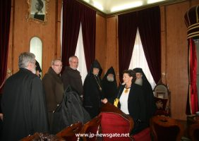 H.B., Ms Moropoulou and the Franciscan and Armenian representatives