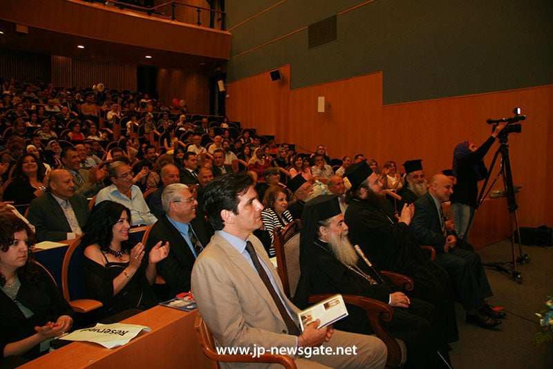 H.B. and the representative of the Greek Consulate attend the ceremony