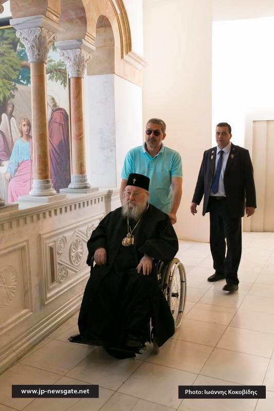 Kallinikos, former Metropolitan of Piraeus, arrives at the Patriarchate