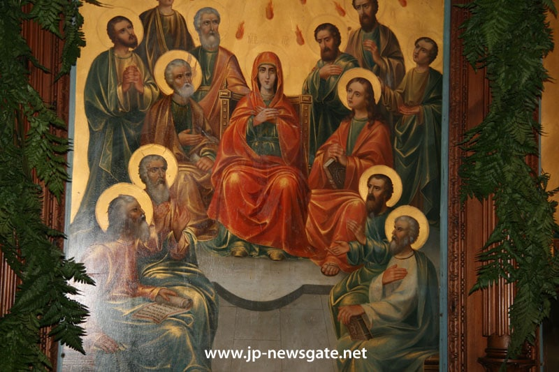 Icon of the Pentecost at the Holy Trinity Church, Zion