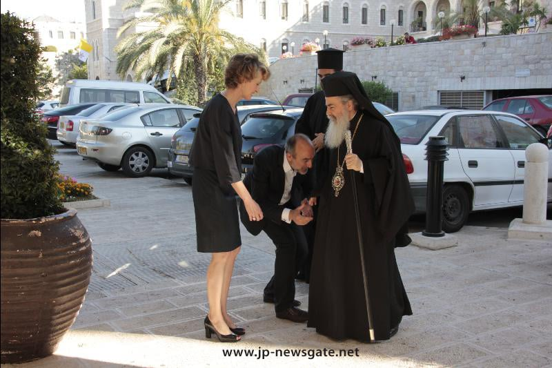 The Patriarch arrives at the Conference