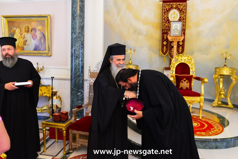 F. Athanasios received the blessing of H.B.