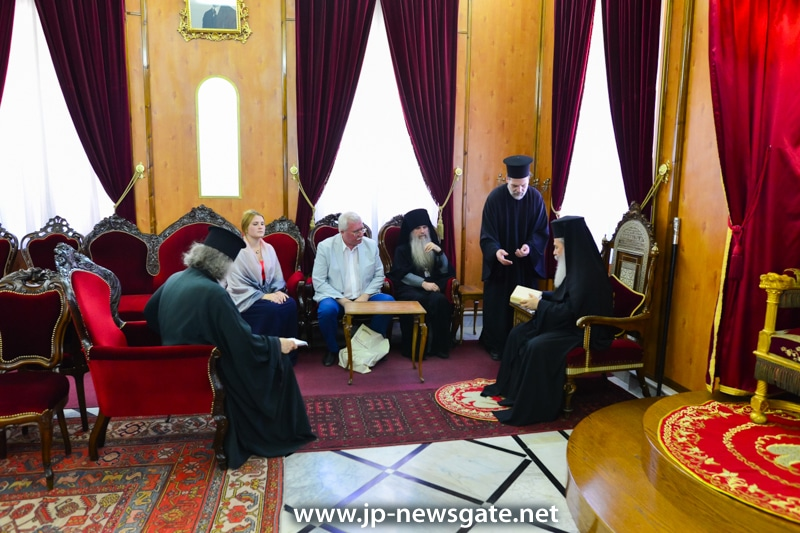 Meeting with the new Chairman of the Imperial Orthodox Palestine Society
