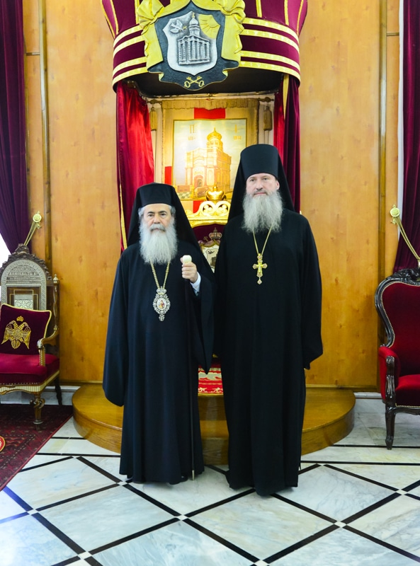The Patriarch with the new Head of the MISSIA