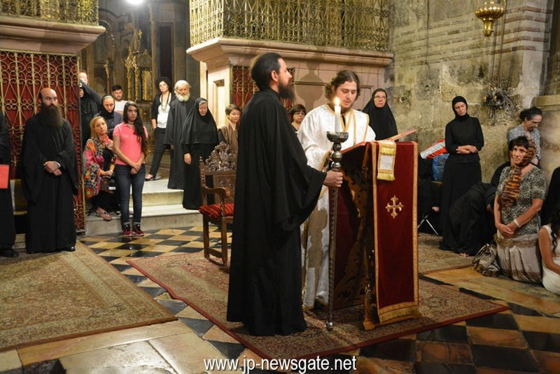 Nocturnal divine Liturgy at the Holy Sepulchre