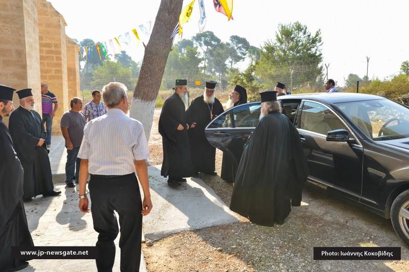 The Patriarch arrives at the Church of the Prophet Elias in Ma'lule