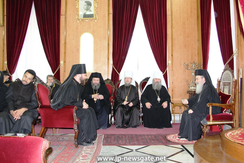 The Metropolitan of Vyshgorod meets with His Beatitude
