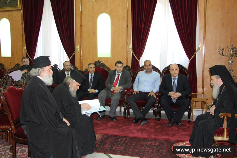 The Patriarch meets with Mr Felah, judges and lawyers
