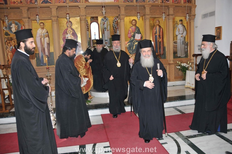His Beatitude at the Exarchate of the Holy Sepulchre