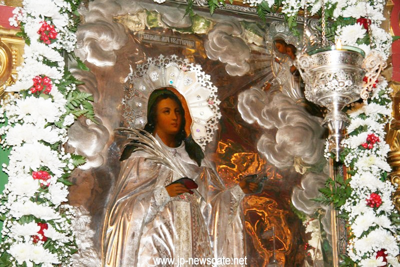The icon of St Catherine the Most Wise