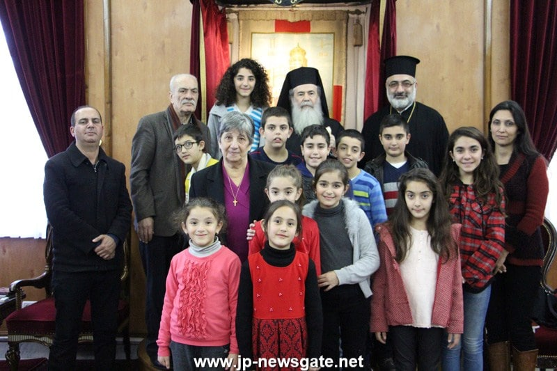 His Beatitude with the children