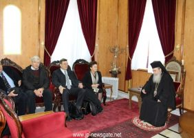 Meeting between the inter-disciplinary teams and His Beatitude