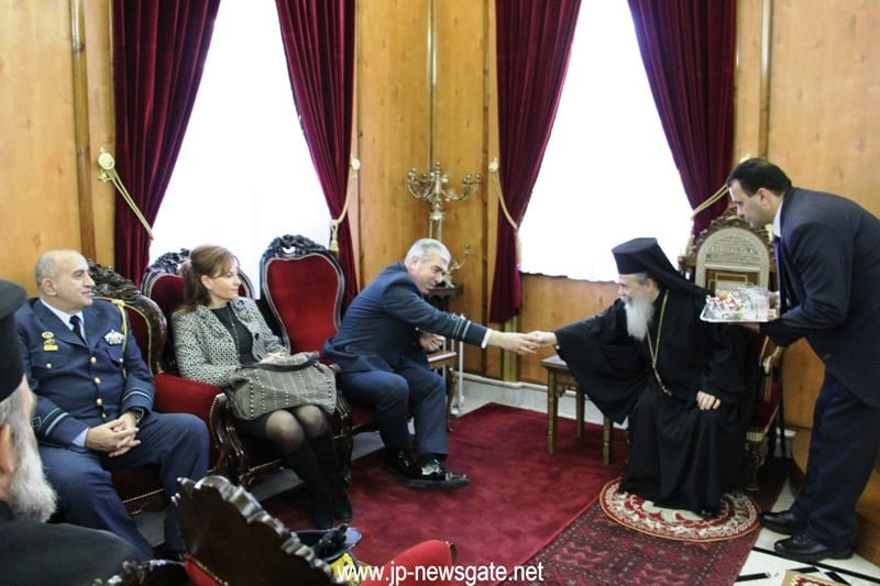 The Chief of the Hellenic Air Force with His Beatitude