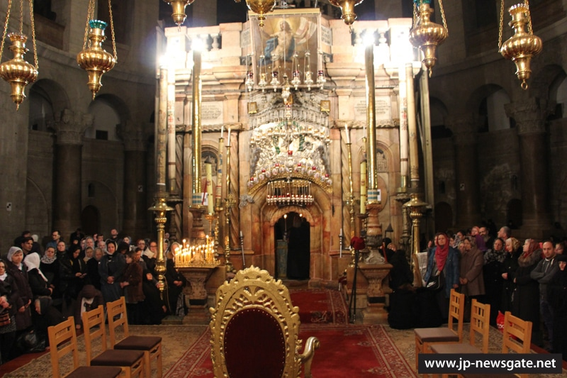 Vigil in the Holy Sepulchre
