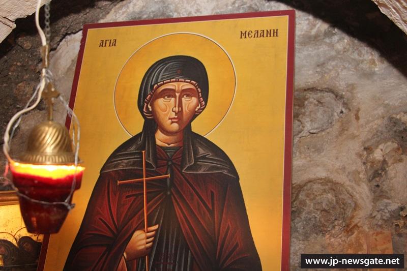 The icon of St Melania