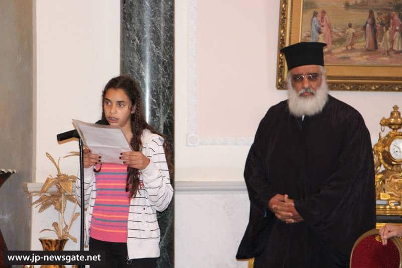 Student addresses His Beatitude