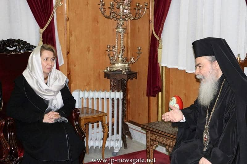 The Patriarch meets with Ms Medvedeva
