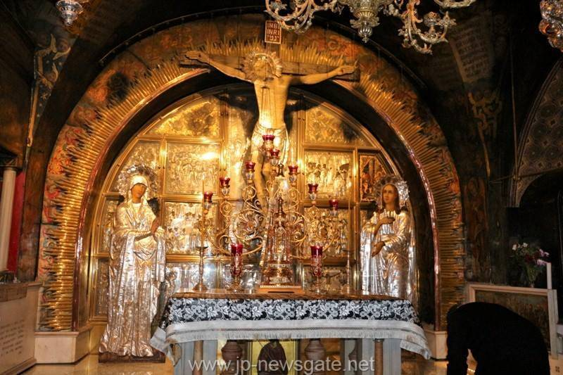The service of the Presanctified Gifts at Golgotha