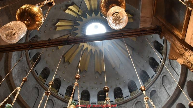 The dome of the Holy Sepulchre