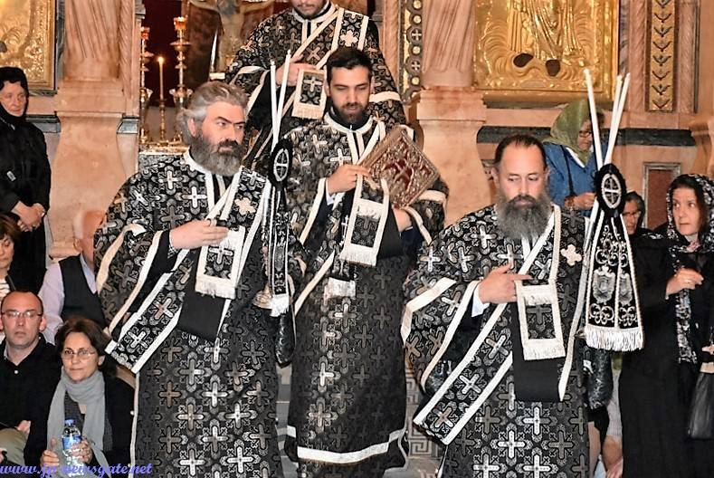 Archdeacon Evlogios with Hierodeacons