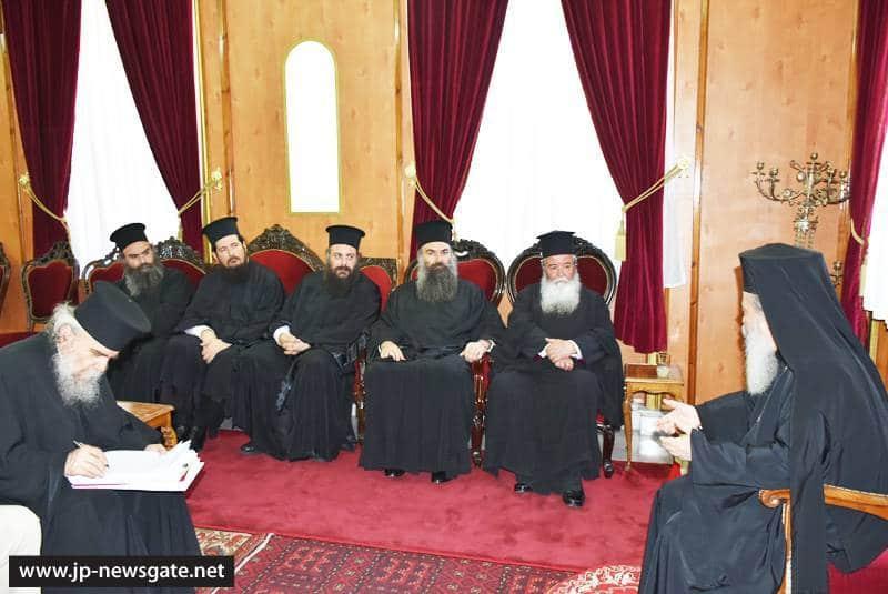His Beatitude meets with the Metropolitans of Kozani, Trikki and Elassona