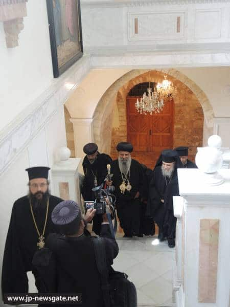 The Ethiopian Patriarch arrives at the Patriarchate
