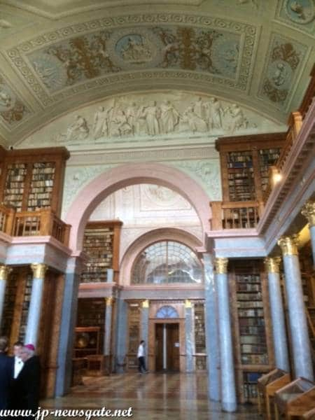 View of the Library at the Pannonhalma Abbey