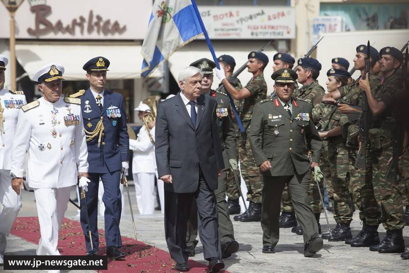 The arrival of His Excellency the Greek President