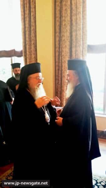 H.B. with Metropolitan Anthimos of Salonika