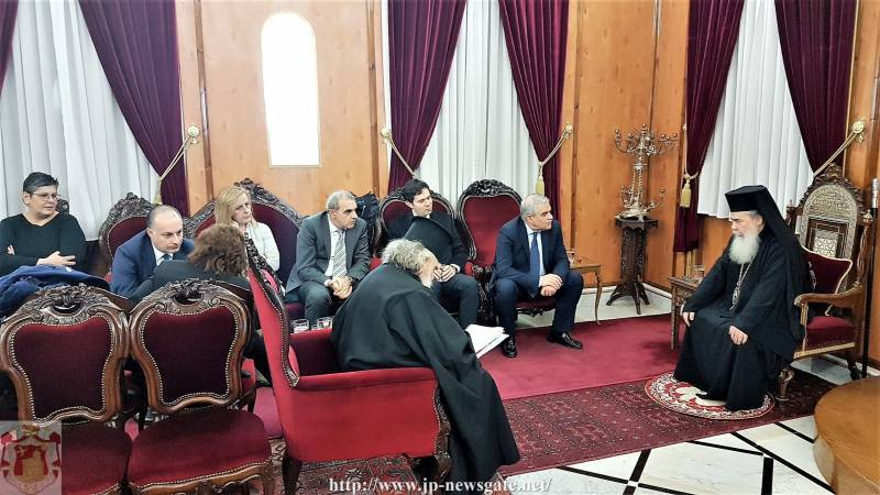 Visit of the Minister of Public Order and Citizen Protection Mr. Toskas at the Patriarchate