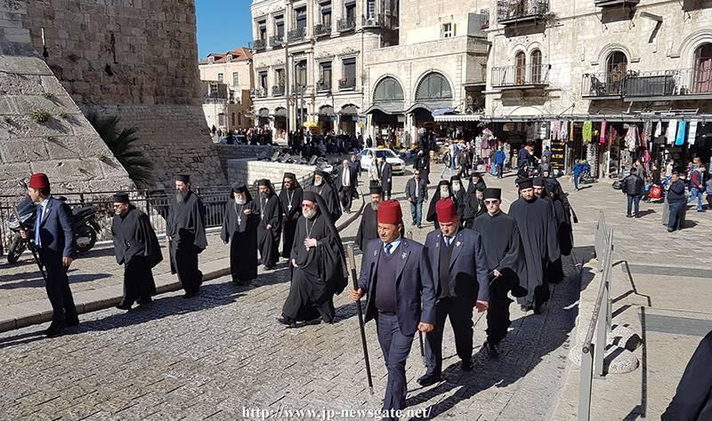 The Hagiotaphite Brotherhood's march towards the Armenian Patriarchate